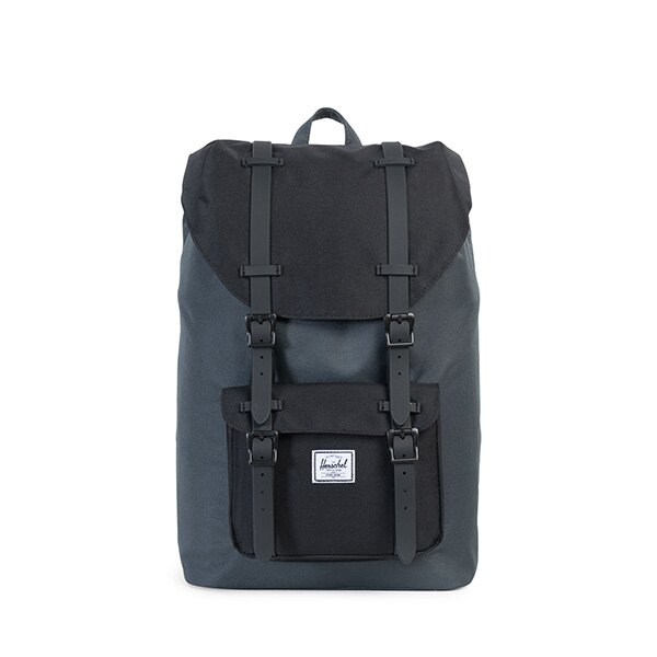 【EST】HERSCHEL LITTLE AMERICA MID 中款 13吋電腦包 後背包 黑灰 [HS-0020-930] G0801 0