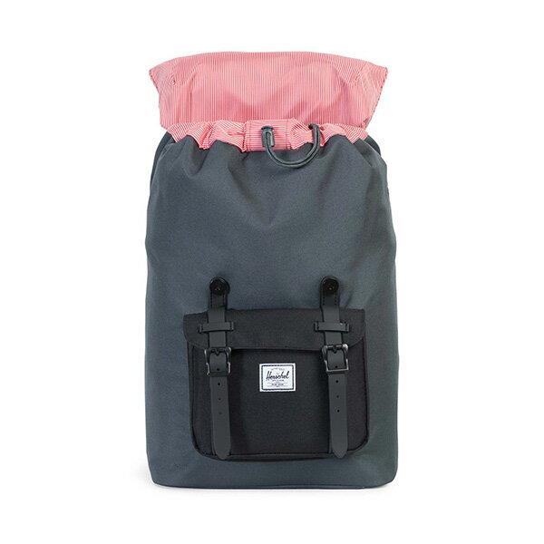 【EST】HERSCHEL LITTLE AMERICA MID 中款 13吋電腦包 後背包 黑灰 [HS-0020-930] G0801 1