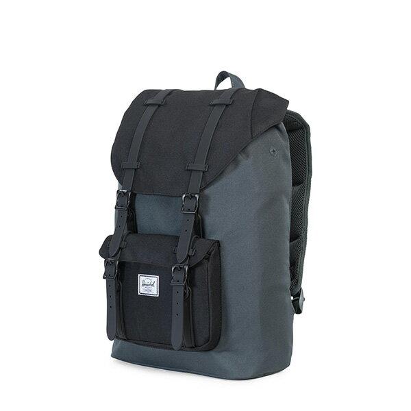 【EST】HERSCHEL LITTLE AMERICA MID 中款 13吋電腦包 後背包 黑灰 [HS-0020-930] G0801 2