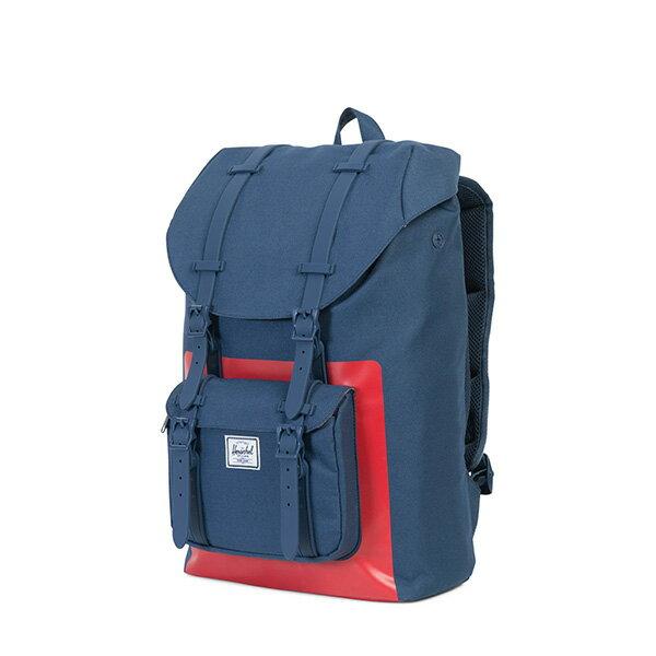 【EST】Herschel Little America Mid 中款 13吋電腦包 後背包 紅印 藍 [HS-0020-B52] G0801 2