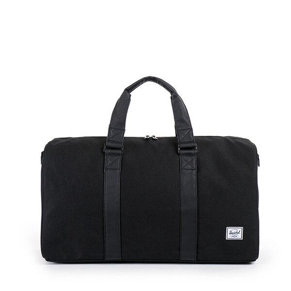 【EST】Herschel Ravine 圓筒 手提袋 旅行袋 皮帶 黑 [HS-0025-535] G0122 0