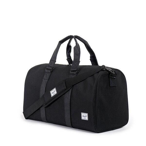 【EST】Herschel Ravine 圓筒 手提袋 旅行袋 皮帶 黑 [HS-0025-535] G0122 1