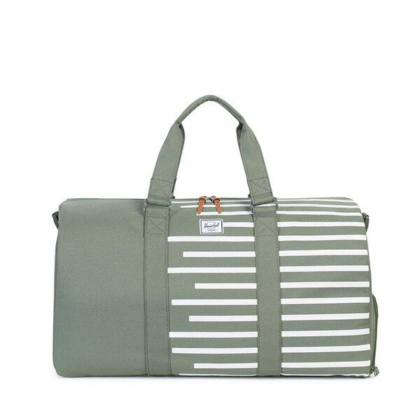 【EST】HERSCHEL NOVEL 圓筒 多功能 鞋箱 手提袋 旅行包 OFFSET系列 條紋 綠 [HS-0026-A41] G0706 0