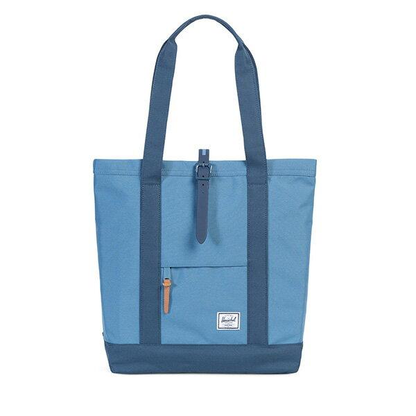 【EST】HERSCHEL MARKET 磁扣帶 托特包 購物袋 側背包 肩背包 藍 [HS-0029-A58] G0414