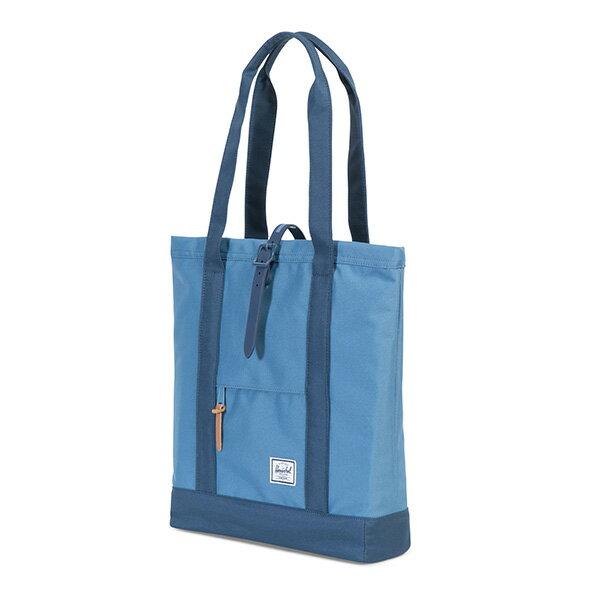 【EST】HERSCHEL MARKET 磁扣帶 托特包 購物袋 側背包 肩背包 藍 [HS-0029-A58] G0414 1