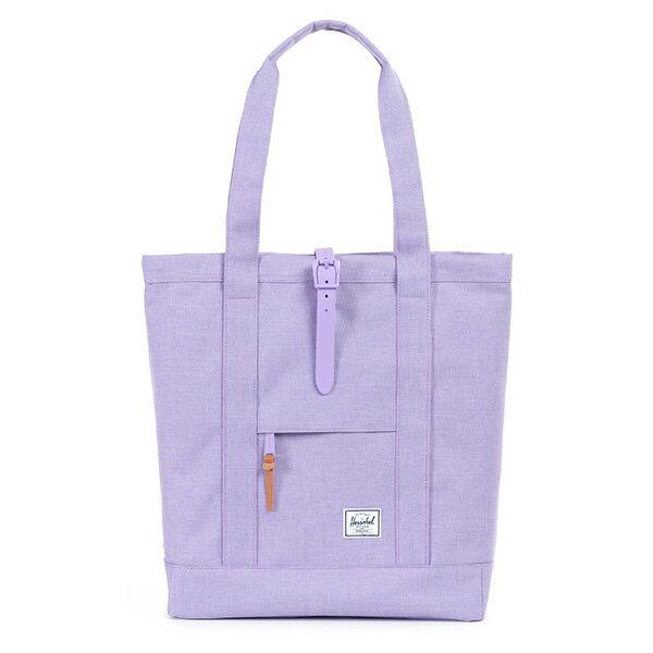 【EST】Herschel Market 磁扣帶 托特包 購物袋 側背包 肩背包 亮紫 [HS-0029-707] G0706 0