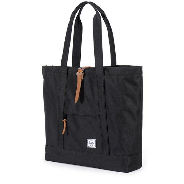 【EST】HERSCHEL MARKET XL 磁扣帶 托特包 購物袋 側背包 肩背包 全黑 [HS-0030-001] G0414 1