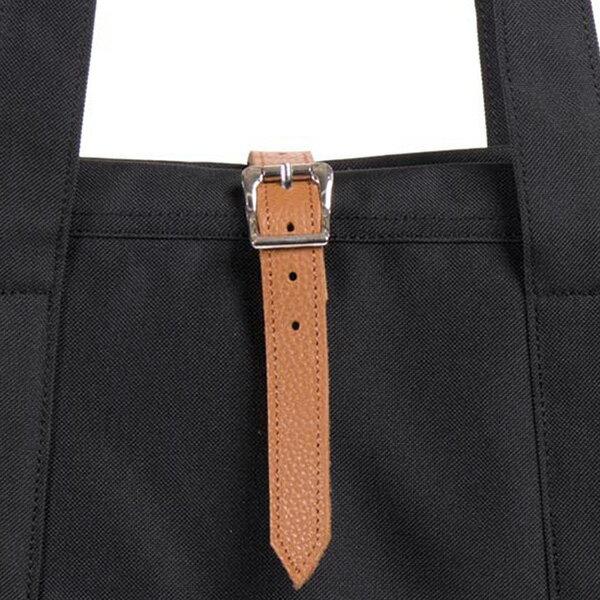 【EST】HERSCHEL MARKET XL 磁扣帶 托特包 購物袋 側背包 肩背包 全黑 [HS-0030-001] G0414 3