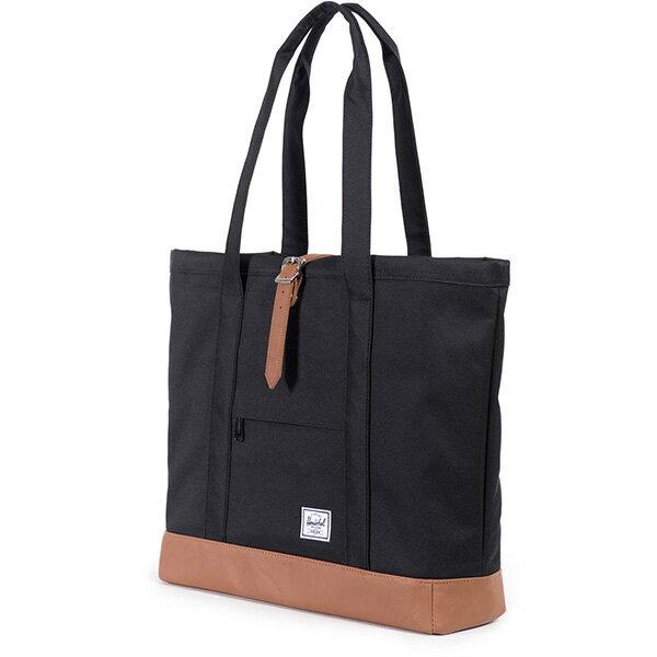 【EST】HERSCHEL MARKET XL 磁扣帶 托特包 購物袋 側背包 肩背包 黑 [HS-0030-055] G0414 1