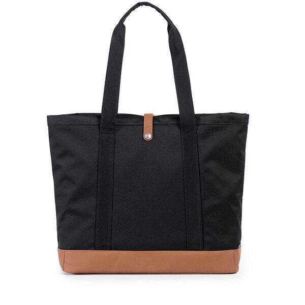 【EST】HERSCHEL MARKET XL 磁扣帶 托特包 購物袋 側背包 肩背包 黑 [HS-0030-055] G0414 2