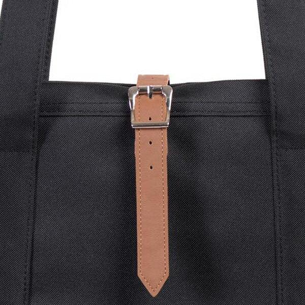 【EST】HERSCHEL MARKET XL 磁扣帶 托特包 購物袋 側背包 肩背包 黑 [HS-0030-055] G0414 3