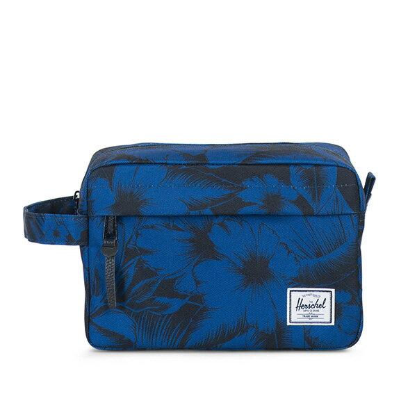 【EST】HERSCHEL CHAPTER 防水拉鍊 收納包 手拿包 叢林 花卉 藍 [HS-0039-A56] G0414 0