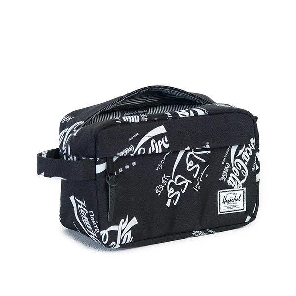 【EST】HERSCHEL CHAPTER 防水拉鍊 收納包 手拿包 可口可樂 黑 [HS-0039-990] G0122 2