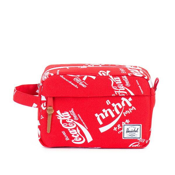 【EST】HERSCHEL CHAPTER 防水拉鍊 收納包 手拿包 可口可樂 紅 [HS-0039-991] G0122 0