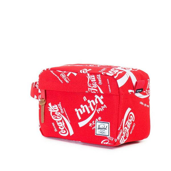【EST】HERSCHEL CHAPTER 防水拉鍊 收納包 手拿包 可口可樂 紅 [HS-0039-991] G0122 1