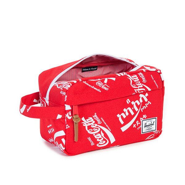 【EST】HERSCHEL CHAPTER 防水拉鍊 收納包 手拿包 可口可樂 紅 [HS-0039-991] G0122 2