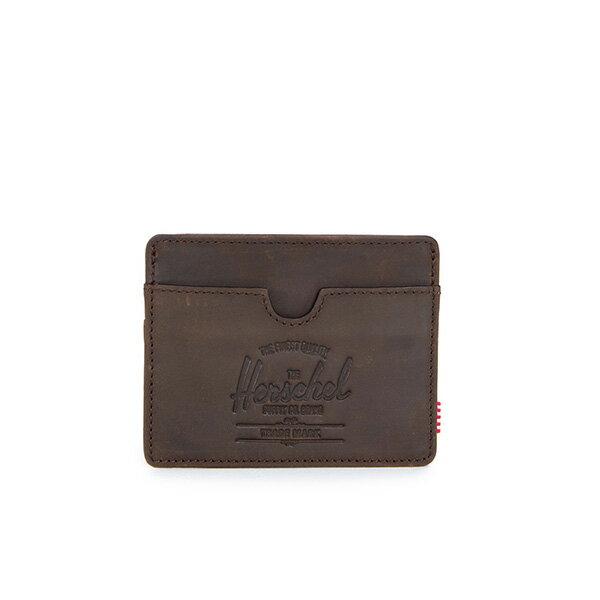 【EST】Herschel Charlie 橫式 卡夾 名片夾 證件套 皮革 棕 [HS-0045-037] G0414 0