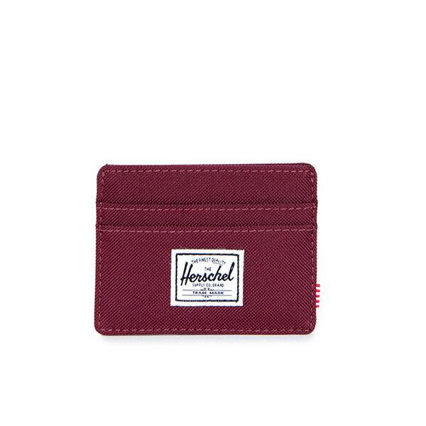 【EST】HERSCHEL CHARLIE 橫式 卡夾 名片夾 證件套 酒紅 [HS-0045-746] G0706 0