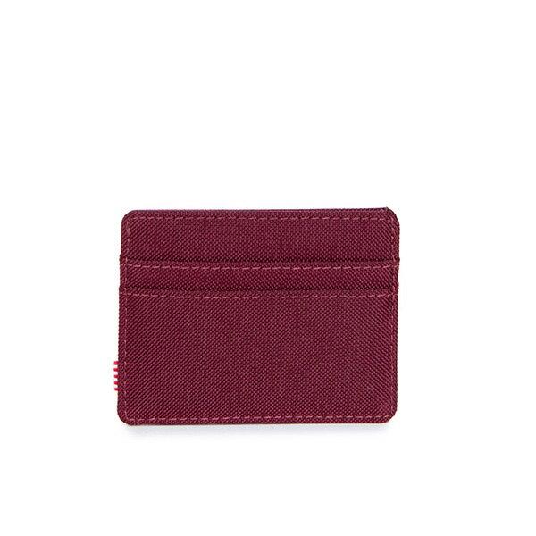 【EST】HERSCHEL CHARLIE 橫式 卡夾 名片夾 證件套 酒紅 [HS-0045-746] G0706 1