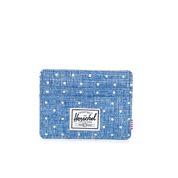 【EST】Herschel Charlie 橫式 卡夾 名片夾 證件套 丹寧 點點 [HS-0045-912] G0706 0