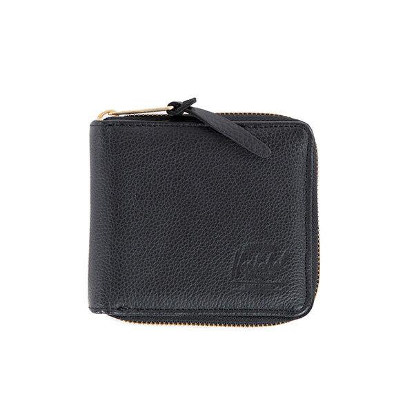 【EST】Herschel Walt Wallet 拉鍊 短夾 皮夾 零錢包 皮革 黑 [HS-0153-004] G0414 0