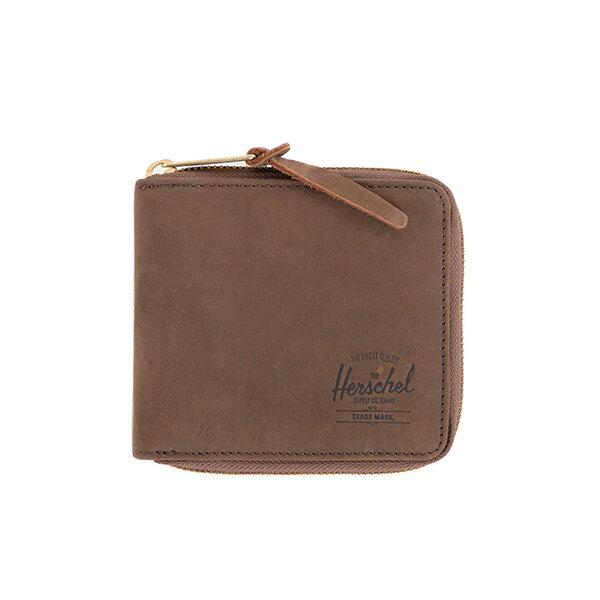 【EST】HERSCHEL WALT WALLET 拉鍊 短夾 皮夾 零錢包 皮革 棕 [HS-0153-037] G0414 0