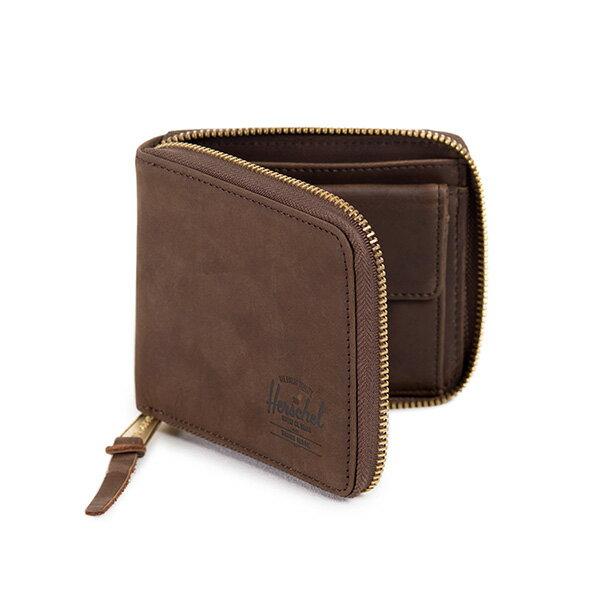 【EST】HERSCHEL WALT WALLET 拉鍊 短夾 皮夾 零錢包 皮革 棕 [HS-0153-037] G0414 1
