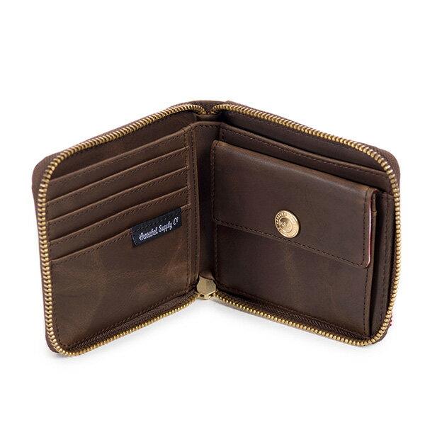 【EST】HERSCHEL WALT WALLET 拉鍊 短夾 皮夾 零錢包 皮革 棕 [HS-0153-037] G0414 2