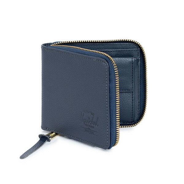 【EST】HERSCHEL WALT WALLET 拉鍊 短夾 皮夾 零錢包 皮革 藍 [HS-0153-776] G0414 1