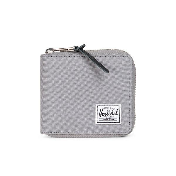 【EST】HERSCHEL WALT WALLET 拉鍊 短夾 皮夾 零錢包 月岩灰 [HS-0153-908] G0414 0