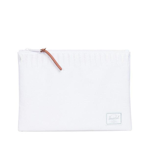 【EST】HERSCHEL NETWORK L 手拿包 收納包 ROSWELL系列 刺繡 白 [HS-0163-A44] G0414 0