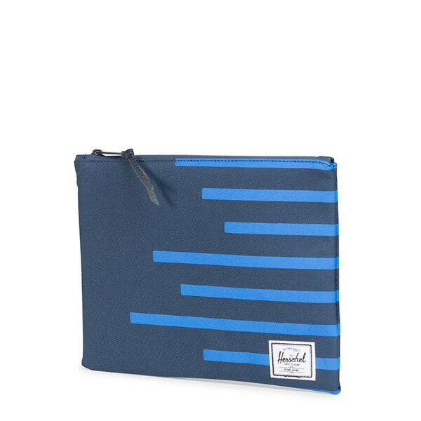 【EST】HERSCHEL NETWORK L 手拿包 收納包 OFFSET系列 條紋 藍 [HS-0163-A42] G0706 1