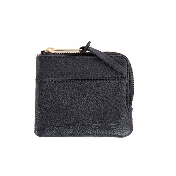 【EST】Herschel Johnny Wallet 皮革 小皮夾 零錢包 黑 [HS-0172-004] G0122 0