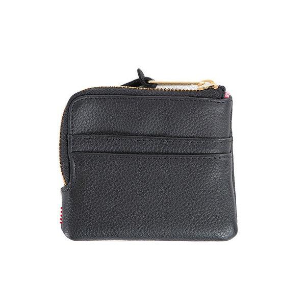【EST】Herschel Johnny Wallet 皮革 小皮夾 零錢包 黑 [HS-0172-004] G0122 1
