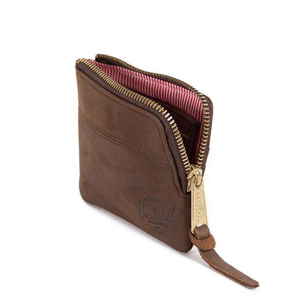 【EST】HERSCHEL JOHNNY WALLET 皮革 小皮夾 零錢包 棕 [HS-0172-037] G0122 3