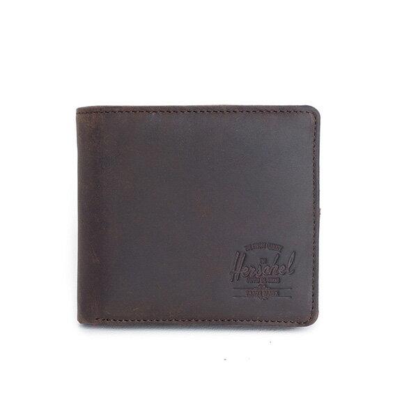 【EST】HERSCHEL HANK LARGE WALLET 短夾 皮夾 零錢包 皮革 棕 [HS-0199-037] G0122 0