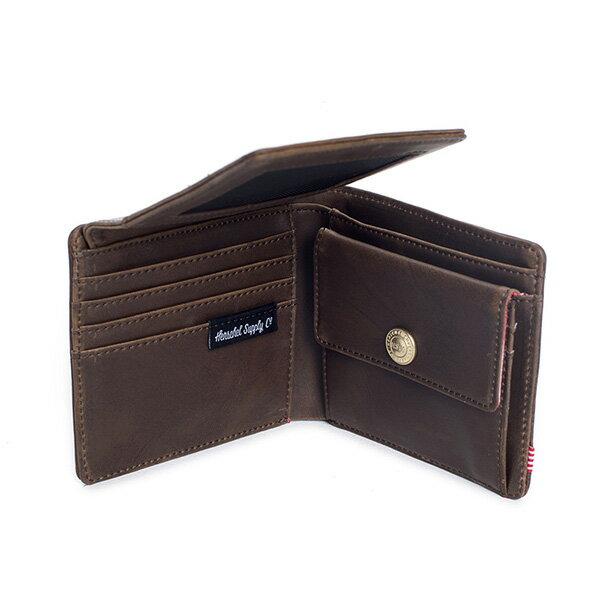 【EST】HERSCHEL HANK LARGE WALLET 短夾 皮夾 零錢包 皮革 棕 [HS-0199-037] G0122 3