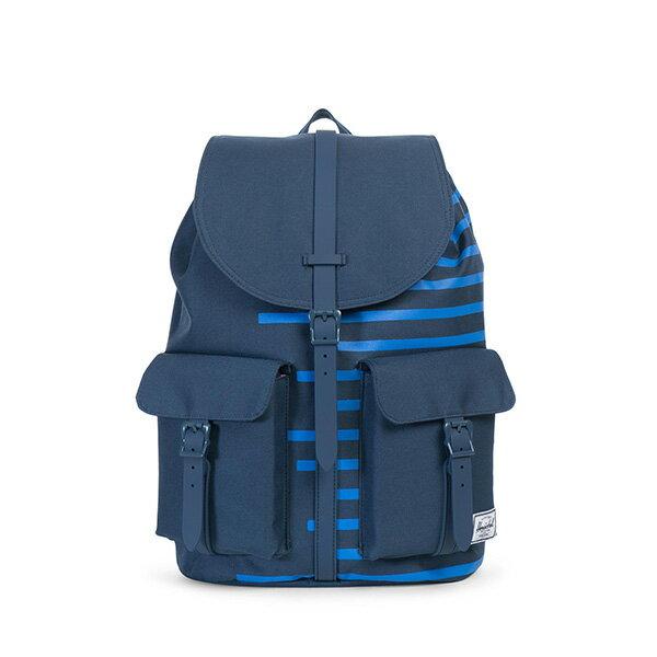 【EST】Herschel Dawson 束口 雙口袋 後背包 膠條 Offset系列 條紋 藍 [HS-0233-A42] G0414 0