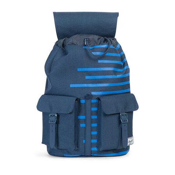 【EST】Herschel Dawson 束口 雙口袋 後背包 膠條 Offset系列 條紋 藍 [HS-0233-A42] G0414 1