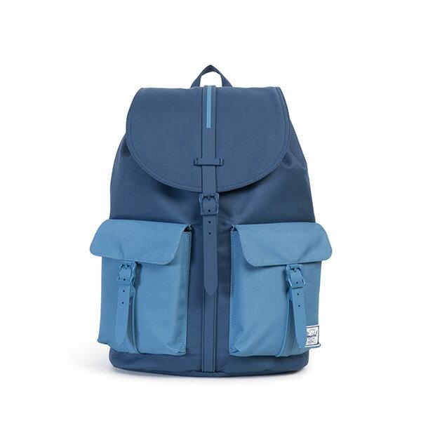 【EST】Herschel Dawson 束口 雙口袋 後背包 膠條 拼色 藍 [HS-0233-A58] G0414 0