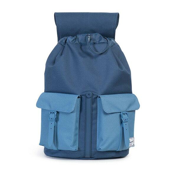 【EST】Herschel Dawson 束口 雙口袋 後背包 膠條 拼色 藍 [HS-0233-A58] G0414 1