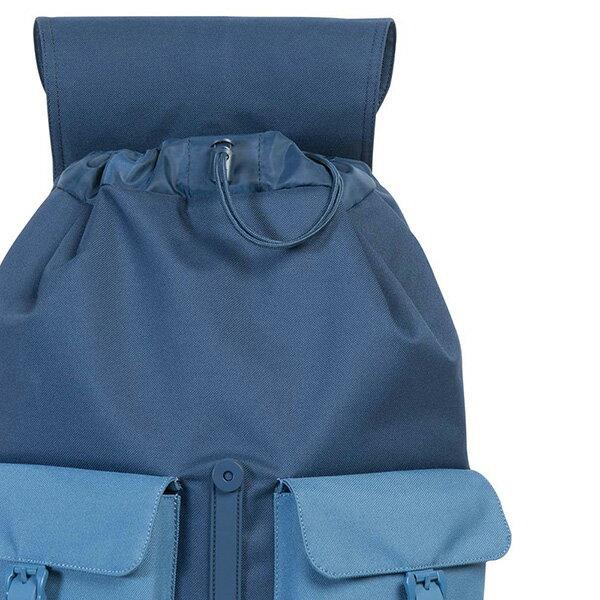 【EST】Herschel Dawson 束口 雙口袋 後背包 膠條 拼色 藍 [HS-0233-A58] G0414 4