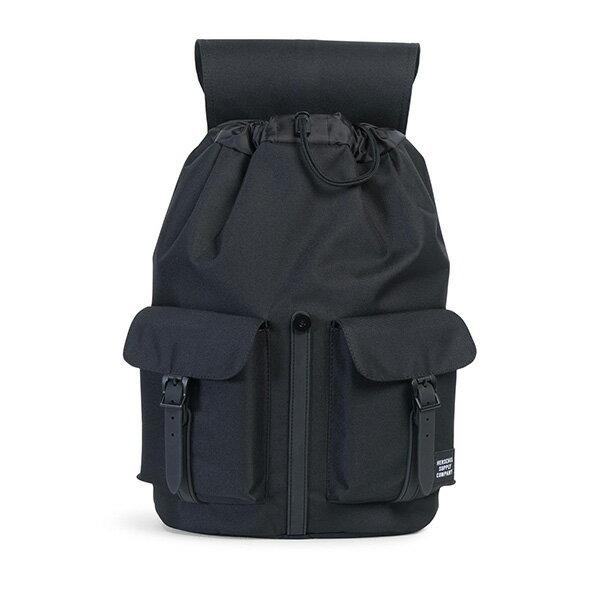 【EST】Herschel Dawson 束口 雙口袋 後背包 膠條 Studio系列 黑 [HS-0233-A94] G0414 1