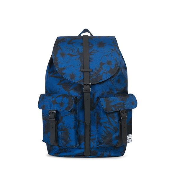 【EST】HERSCHEL DAWSON 束口 雙口袋 後背包 叢林 花卉 藍 [HS-0233-A56] G0706 0