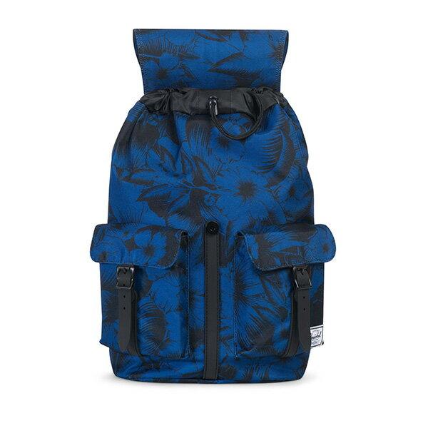 【EST】HERSCHEL DAWSON 束口 雙口袋 後背包 叢林 花卉 藍 [HS-0233-A56] G0706 1