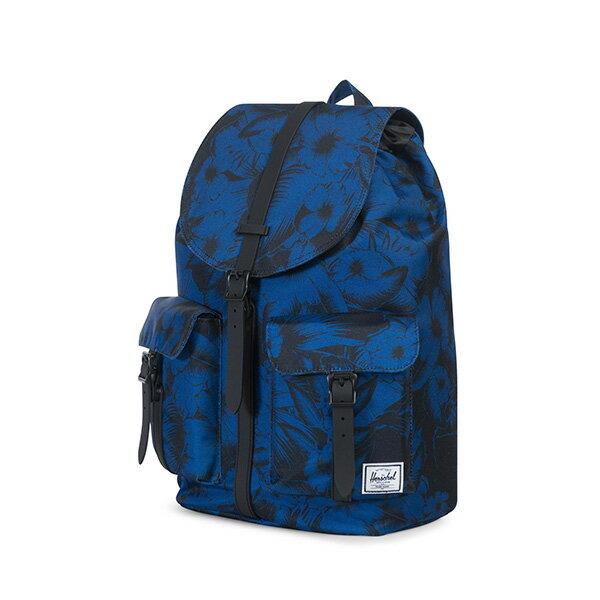 【EST】HERSCHEL DAWSON 束口 雙口袋 後背包 叢林 花卉 藍 [HS-0233-A56] G0706 2