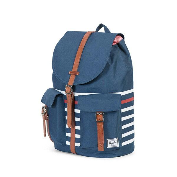 【EST】Herschel Dawson 束口 雙口袋 後背包 條紋 藍 [HS-0233-B71] G0801 2