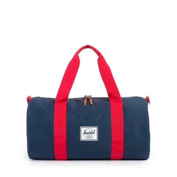 【EST】HERSCHEL SUTTON MID 中款 圓筒 肩背 手提袋 旅行包 藍紅 [HS-0251-018] G0122 0