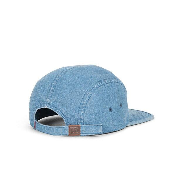 【EST】HERSCHEL GLENDALE 經典款 硬版 後調式 五分割帽 棒球帽 丹寧 淺藍 [HS-1007-171] G0422 1