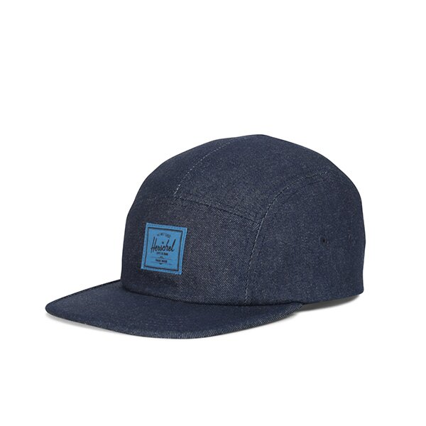 【EST】Herschel Glendale 經典款 硬版 後調式 五分割帽 棒球帽 丹寧 深藍 [HS-1007-172] G0422 0